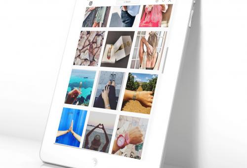 foto creación web para tablet