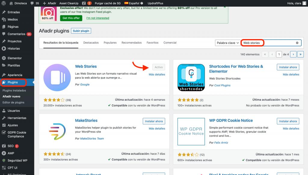 Descarga Plugin Web Stories